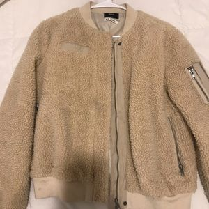 Urban Outfitters Teddy Bomber Jacket